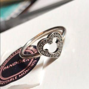 1bcf3c76d ... sale 190957cz pandora disney mickey silhouette ring f549c c913d
